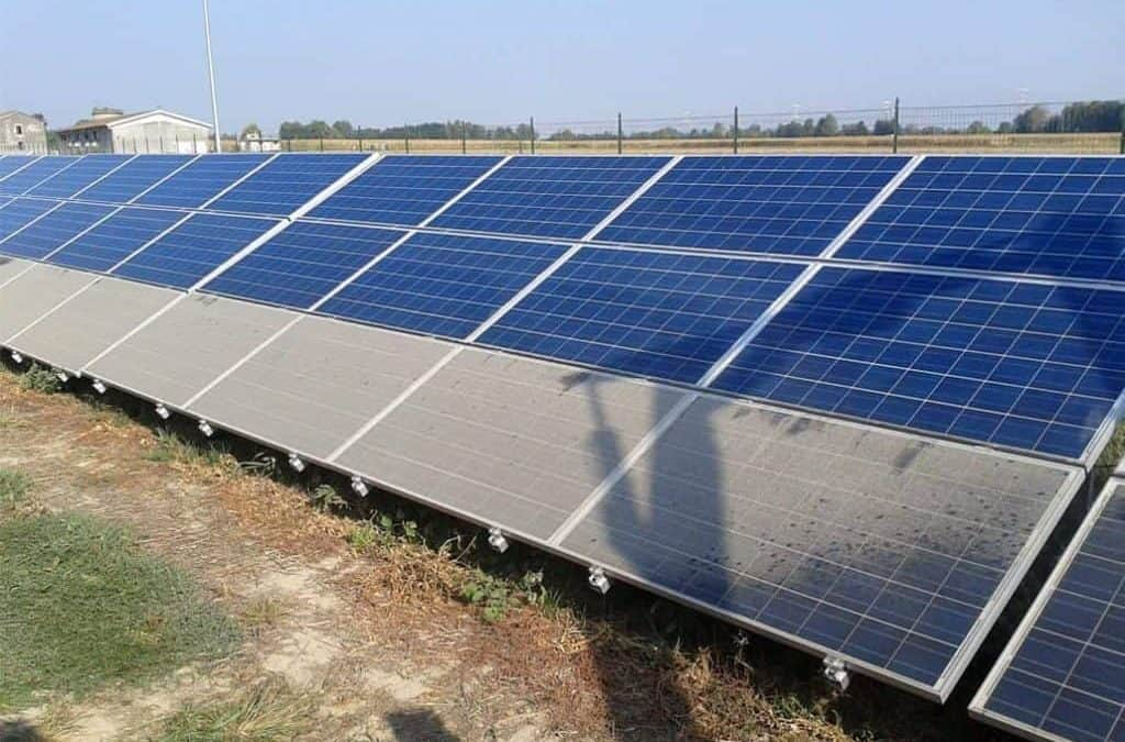 Lavaggio fotovoltaico: resa energetica