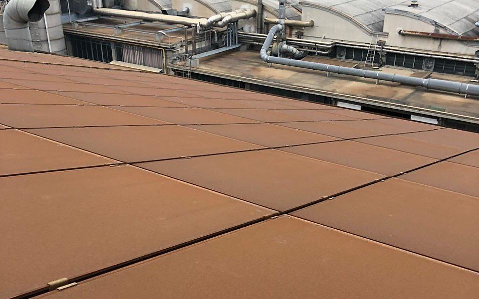 Pannello fotovoltaico sporco