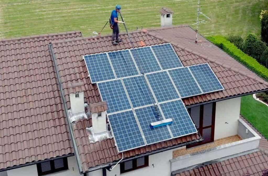 Lavaggio moduli fotovoltaici